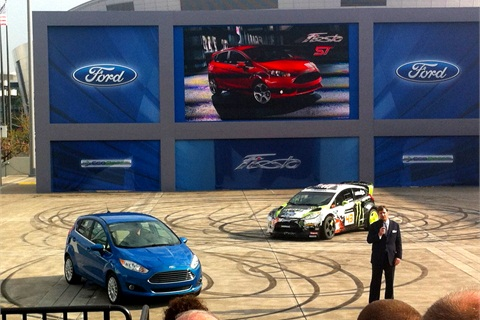 The Ford Fiesta comes equipped with Ford's 1.0L three-cylinder EcoBoost engine.