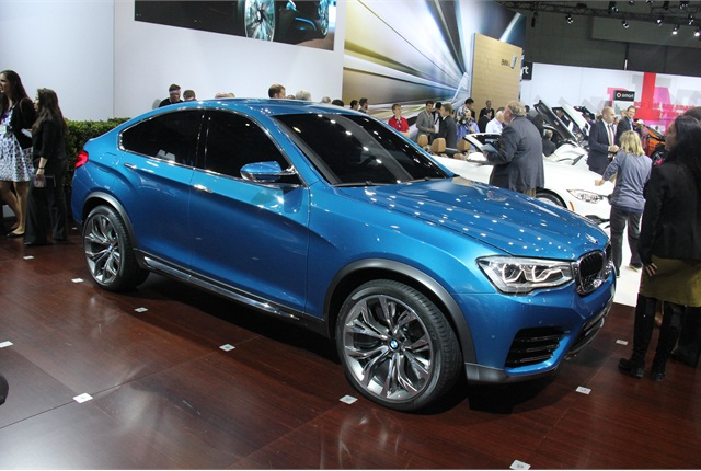 BMW's X4 concept crossover is based on the X3.