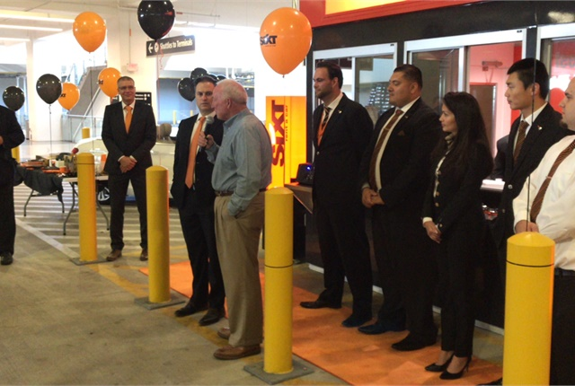 Jerry Sanders, former mayor of San Diego and current president of the San Diego Regional Chamber of Commerce, officially opened the Sixt location at San Diego International Airport.